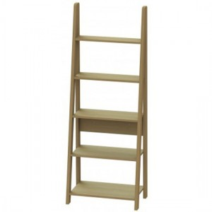 Tiva Wooden Ladder Bookcase In Oak