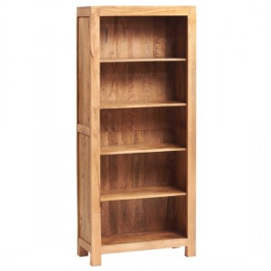 Toko Large Wooden Open Bookcase In Light Mango
