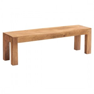 Toko Wooden Dining Bench In Light Walnut