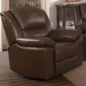 Toledo Faux Leather And PVC Recliner Chair In Brown