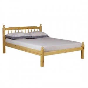 Torino Wooden Double Bed In Pine