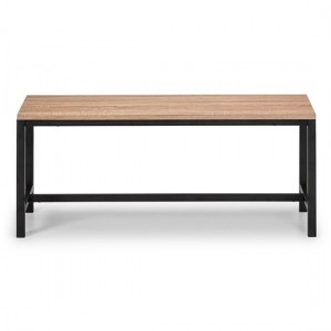 Tribeca Wooden Dining Bench In Sonoma Oak Effect
