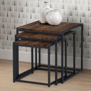 Tribeca Wooden Nest Of Tables In Walnut