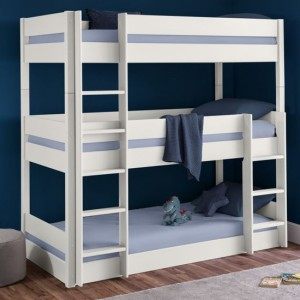 Trio Wooden Bunk Be In Surf White