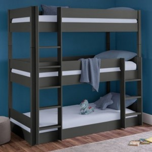 Trio Wooden Bunk Bed In Anthracite