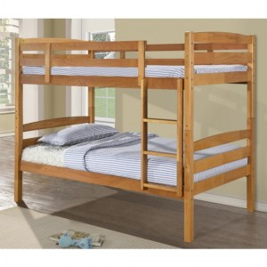Tripoli Wooden Single Bunk Bed In Antique Pine