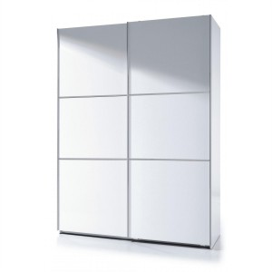 Helix Large White High Gloss Finish 2 Door Sliding Wardrobe