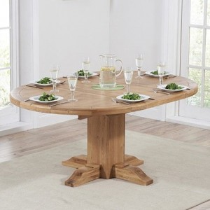 Turin Extending Wooden Dining Table In Oak