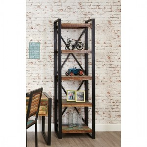 Urban Chic Wooden Alcove Bookcase With 5 Shelves