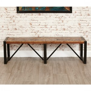 Urban Chic Wooden Large Dining Bench