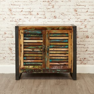 Urban Chic Wooden Small Sideboard With 2 Doors