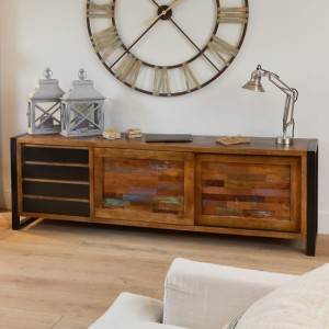 Urban Chic Wooden Ultra Large Sideboard With 2 Doors And 4 Drawers