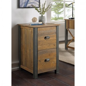 Urban Elegance Wooden 2 Drawers Filing Cabinet In Reclaimed Wood
