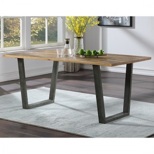 Urban Elegance Wooden Dining Table In Reclaimed Wood