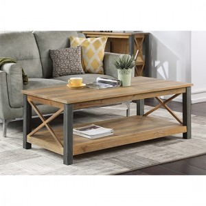 Urban Elegance Wooden Extra Large Coffee Table In Reclaimed Wood