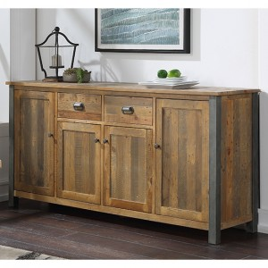 Urban Elegance Wooden Extra Large Sideboard In Reclaimed Wood