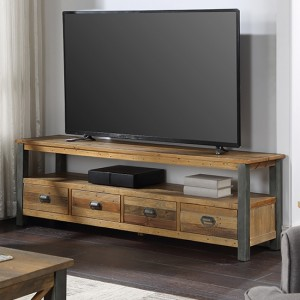 Urban Elegance Wooden Extra Large TV Stand In Reclaimed Wood