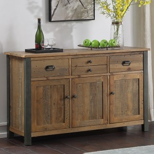 Urban Elegance Wooden Sideboard In Reclaimed Wood