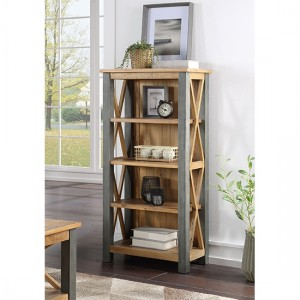 Urban Elegance Wooden Small Bookcase In Reclaimed Wood