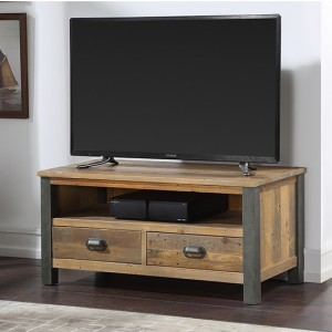Urban Elegance Wooden TV Stand In Reclaimed Wood