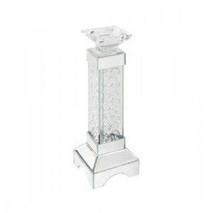 Valentina Small Glass Candle Holder In Crystal Effect
