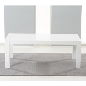 Venice Extending Wooden Dining Table In White High Gloss