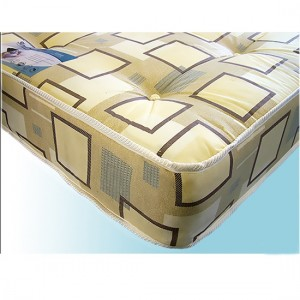 Venus Damask Fabric Single Sprung Mattress