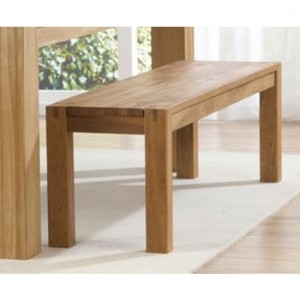 Verona Wooden Dining Bench In Oak