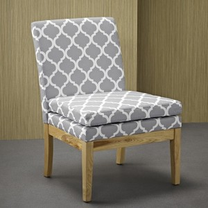 Victor Patterned Fabric Dining Chair
