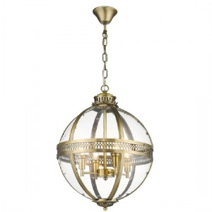 Rukbat Round Luminaire Pendant In Antique Brass