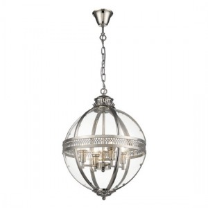 Rukbat Round Luminaire Pendant In Nickel