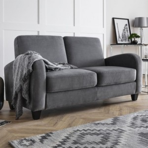 Vivo Chenille Fabric Sofabed In Dusk Grey
