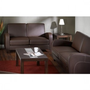 Vivo Faux Leather Sofabed In Chestnut
