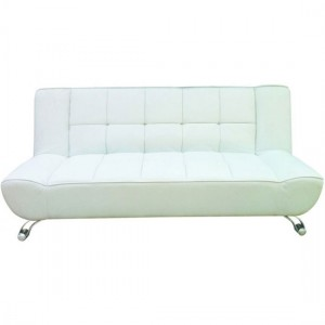 Vogue Faux Leather Sofa Bed In White