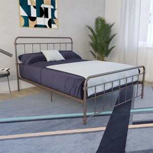 Wallace Metal Double Bed In Bronze