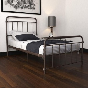 Wallace Metal Single Bed In Bronze