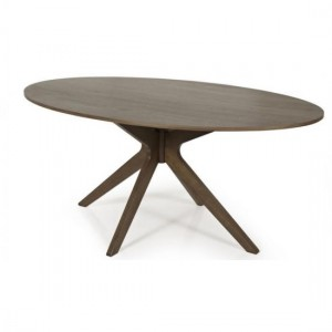 Waltham Round Large Wooden Dining Table In Walnut