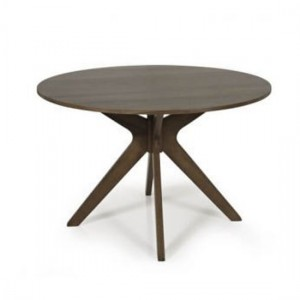 Waltham Round Wooden Dining Table In Walnut