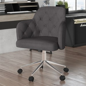 Washington Fabric Upholstered Home And Office Chair In Grey