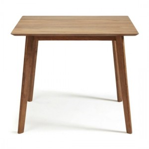 Westminister Small Fixed Wooden Dining Table In Walnut