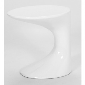 Wilcox Wooden Lamp Table In White High Gloss