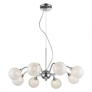 Tabit Decorative Luminaire Pendant In Chrome And Clear