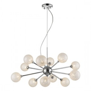 Tabit Decorative Luminaire Pendant In Clear And Chrome