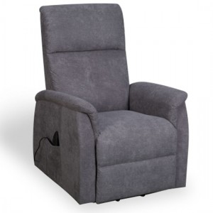 Yorke Fleck Effect Fabric Recliner Chair In Grey
